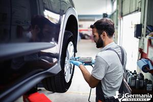 A man performing essential tire maintenance