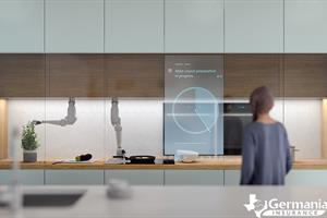 A robotic kitchen assistant in a smart home of the future